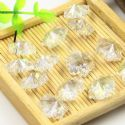 Beads, Selenial Crystal, Crystal, Clear colour AB, Flower shape, 14mm x 14mm x 7mm, 1 Bead, [ZZE0001]